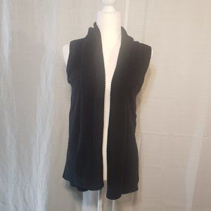 Ann Taylor Small Black Sleeveless Knitted Cardigan